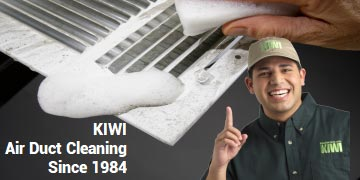 Vent hand washed during cleaning air ducts