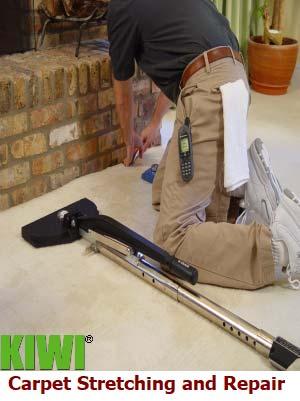 professional carpet repair by service tech