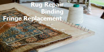 Rug being repaired