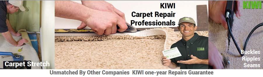 Carpet repairs performed by tech