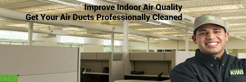 Air ducts of commercial building clean