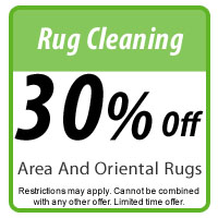 Rug Cleaning 30% off Coupon