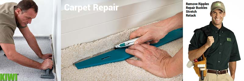 Carpets Being Repaired and Tech with Repair Tools