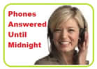 Phones Answered Until Midnight