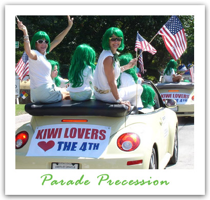 KIWI Carpet cleaning parade precession