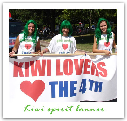 KIWI carpet cleaning Loves the 4th