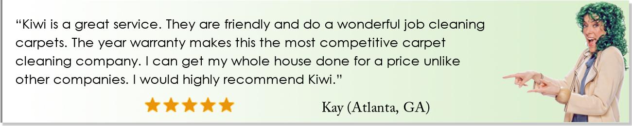 KIWI Carpet Cleaning Reviews Atlanta