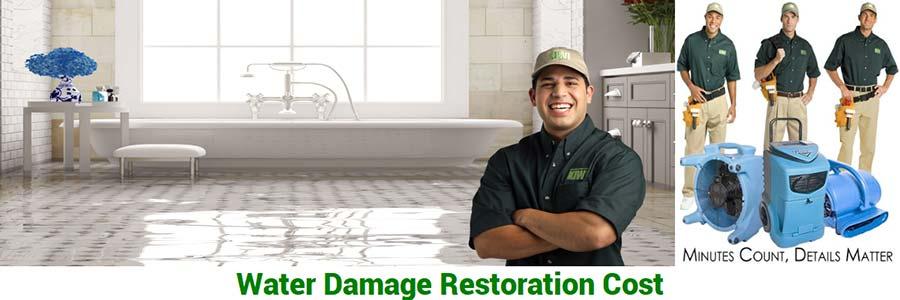 water damage restortation cost